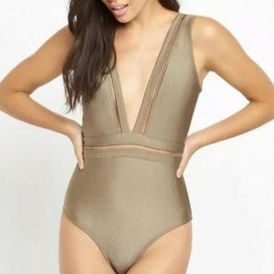 Ted Baker Starza One Piece Deep Plunge Swimsuit